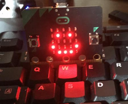 Smiley face displayed on Micro:bit