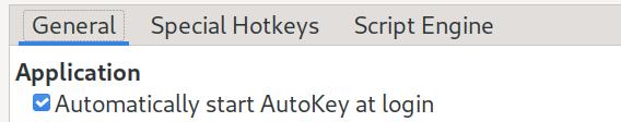 Automatically start AutoKey at login