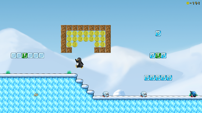 Supertux, a tile-based video game