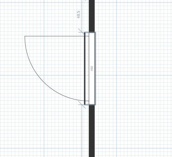 Moving a door in Sweet Home 3D