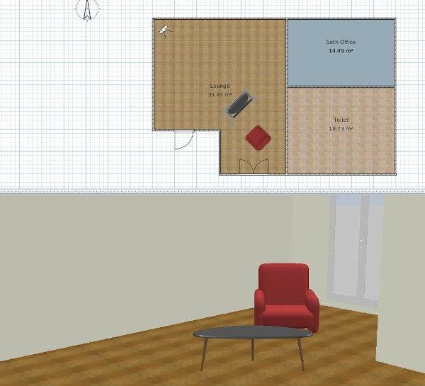 Sweet Home 3D rendering