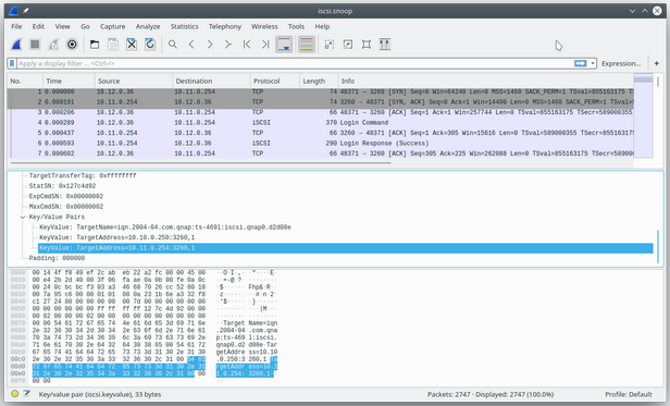 Using Wireshark to inspect a TCP session
