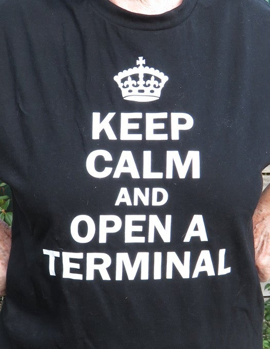 Tshirt, Keep Calm and Open A Terminal
