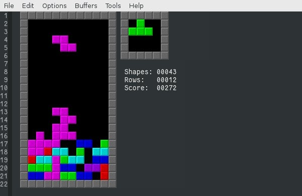 Tetris in Emacs