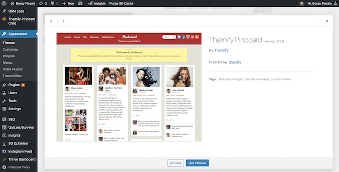 Themify screenshot