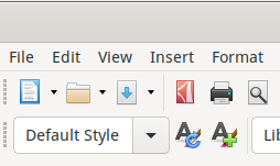 Libre Office toolbar