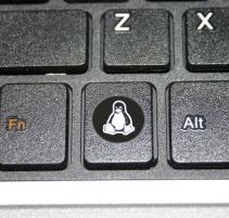 Tux Super Key Keyboard Sticker