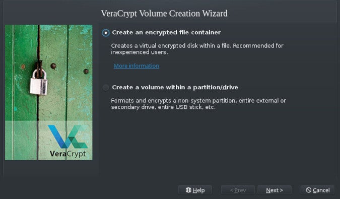 Creating a volume with VeraCrypt