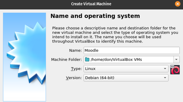 Naming the VirtualBox VM