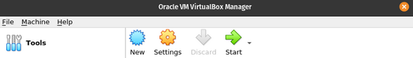Create a new VirtualBox
