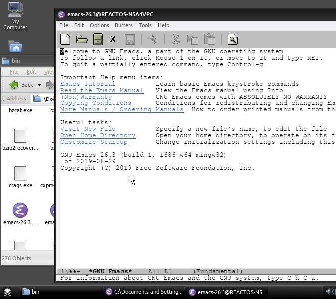 Emacs running on Windows