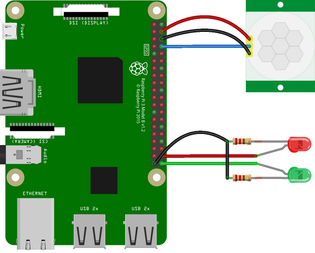 Raspberry Pi wiring diagram