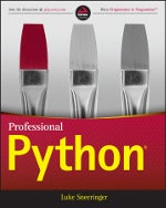 Professional Python book cover