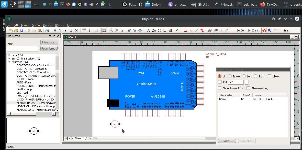 TinyCAD running with WINE